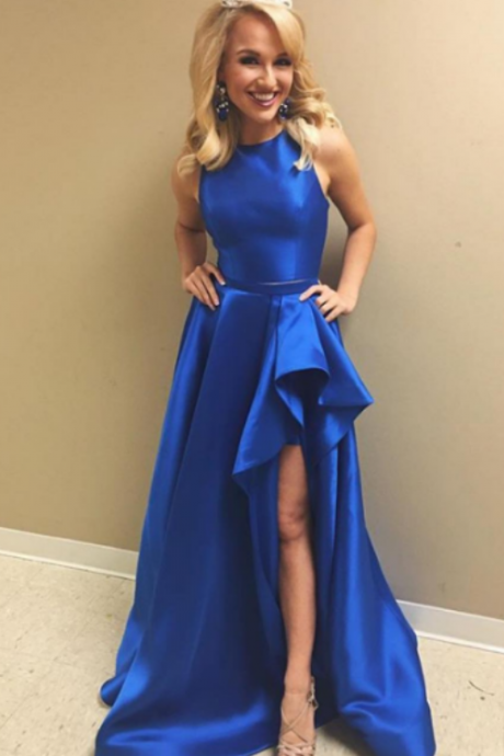 Royal Blue Prom Dresses,Satin Prom Dresses,Long Prom Dresses,Simple Prom Dress,Cheap Prom Dresses,Handmade Prom Dresses,Evening Dresses,Party Dresses