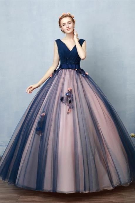 Navy Blue And Pink Prom Dresses,Ball Gowns Prom Dresses,Princess Prom Dresses,Disney Prom Dresses,Quinceanera Dresses,Prom Dresses For Teens,Long Prom Dress,Prom Gowns,Beautiful Party Dresses,Cute Dresses DR0474