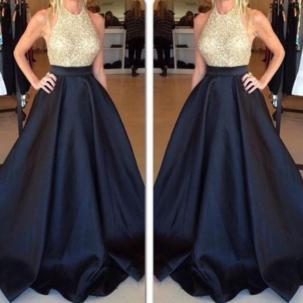 Beading Prom Dresses, Halter Floor-Length Prom Dresses, Real Made Evening Dresses, Evening Gowns , Charming Evening Dresses, Evening Dresses On Sale