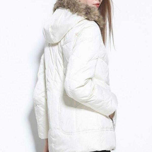 White Down Jackets,Women Coat,Simple Cheap Winter Coats,Plus Size Down Coat